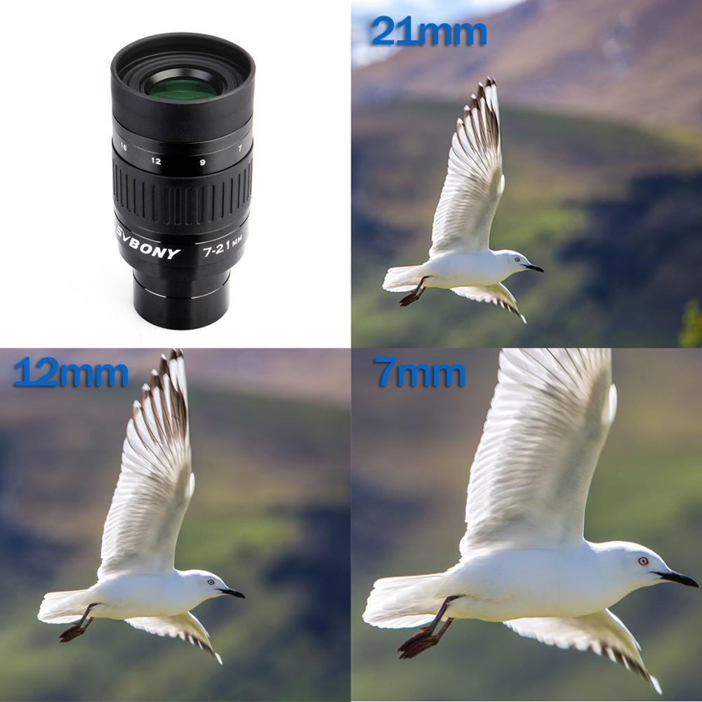 7 1 OpticalContinuous Eyepiece Telescope Zoom 21mm Elem SV135 25 6 4 Zooming Group Eyepiece Coated  SVBONY   EyepieceZoom Mul