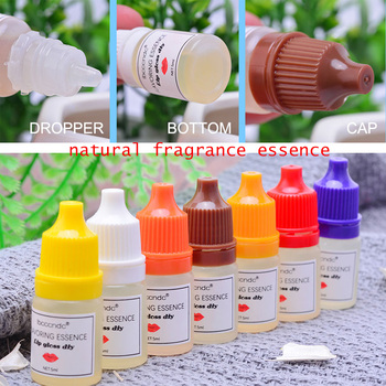 4Pcs 5mlNatural Flavor Essence for Handmade Cosmetic Lip Gloss Base Lipgloss DIY Food Grade Fragrance Flavoring Essential oil