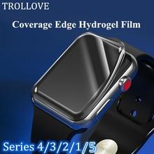 Прозрачная защитная Гидрогелевая пленка для iWatch 2 3 4 5 40 мм 44 мм Защитная пленка для Apple Watch 38 мм 42 мм
