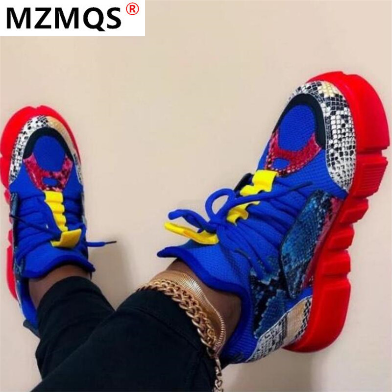 2020 Casual Shoes Woman Fashion Mixed Colors Platform Sneakers Trainers Women Flat Shoes Zapatos De Mujer Womens Sneaker Basket