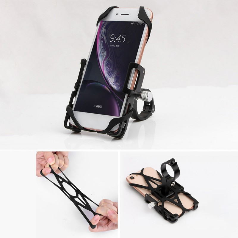 Universal GUB P10 Aluminium alloy Mobile Phone Holder Anti-slip Bike Bicycle Rotatable Mobile Phone Rack Bracket Stand 3 Colors image
