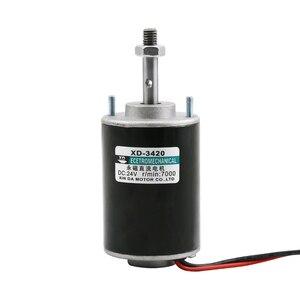 Image 1 - Motor de CC Marshmallow de 3420, 52mm, 12V, 24V, 30W, 3500 7000rpm, Motor de cepillo de velocidad ajustable con eje de tornillo, envío gratis