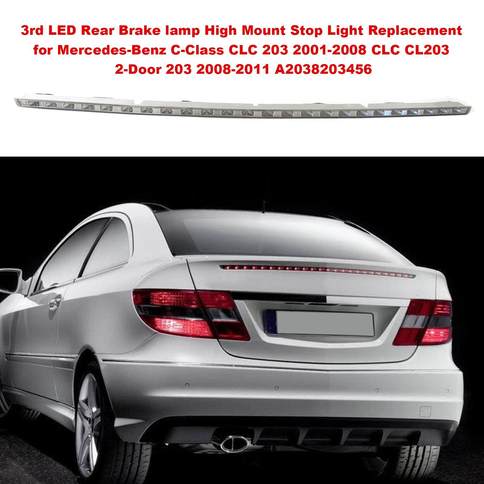 3rd светодиодный задний фонарь стоп-сигнала высокое крепление стоп-сигнала светильник Замена для Mercedes-Benz 2-дверный C-Class CLC 203 CLC CL203 A2038203456