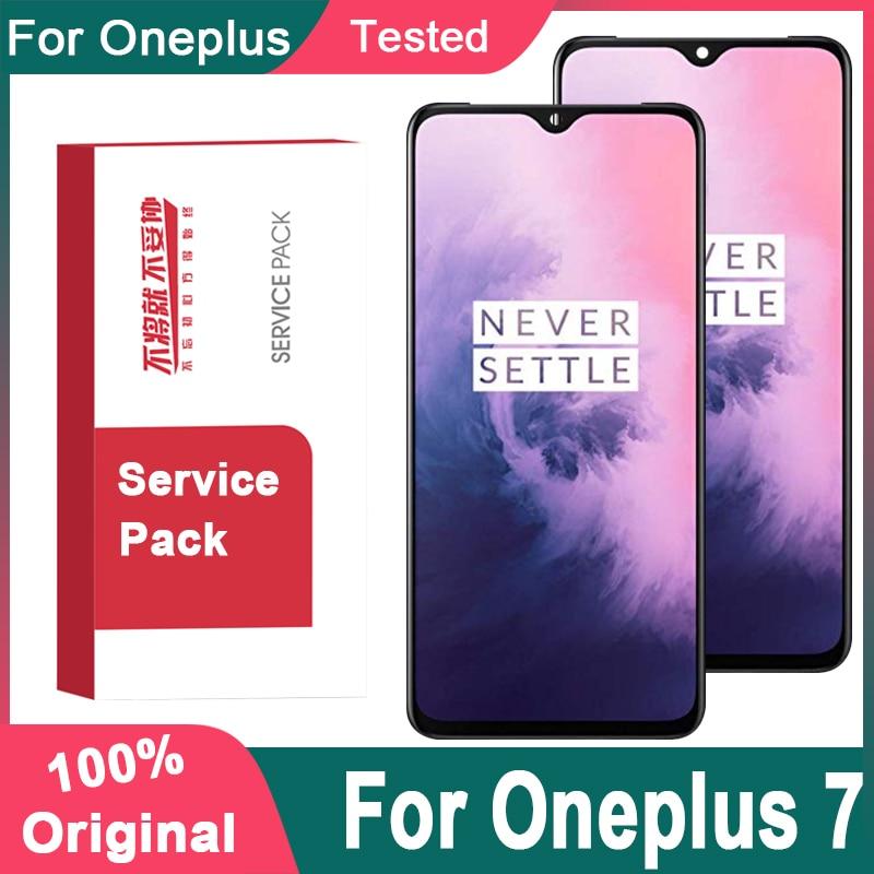 Оригинальный дисплей 6,41 дюйма с суперширокой рамкой для OnePlus 7, ЖК-дисплей с сенсорным экраном, дигитайзер для OnePlus 7, ЖК-дисплей, запчасти для ...