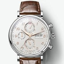 Luxury Brand Switzerland LOBINNI Men Watches Perpetual Calen