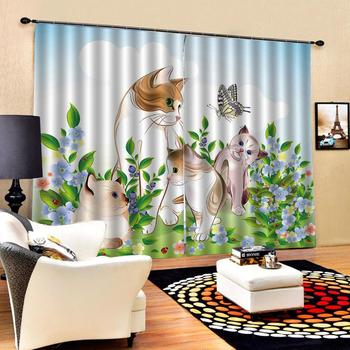 animal curtains Customized size Luxury Blackout 3D Window Curtains For Living Room personality curtains