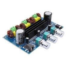 Tpa3116 placa amplificador de potência digital 2.1 canais estéreo classe d amplificador de som bluetooth 5.0 áudio baixo subwoofer