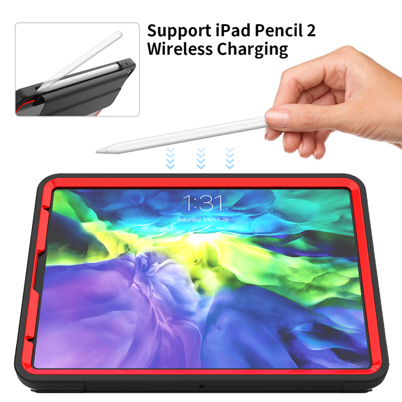 Heavy Duty Case For iPad Pro 11 Case 2020 TPU Hard Smart Cover With Pencil holder