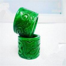 Кораба натуральный зеленый нефрит кольца ювелирные изделия драгоценный камень кольцо жадеит камни нефрит ювелирные изделия изумруд кольцо добавить сертификат