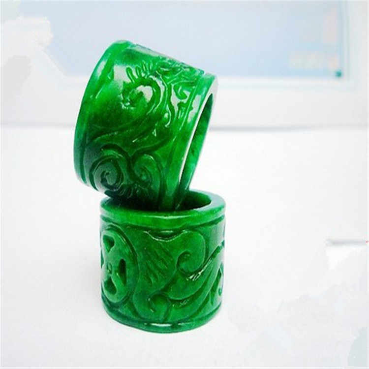 Koraba ธรรมชาติสีเขียวหยกแหวนเครื่องประดับอัญมณีแหวนหยกหินหยกอัญมณีมรกต emerald แหวนเพิ่มใบรับรอง