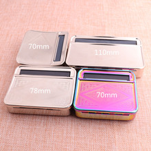 70mm 78mm 110mm Adjustable Metal Cigarette Case Semi-automatic Holder for Rolling Tobacco Raw Paper