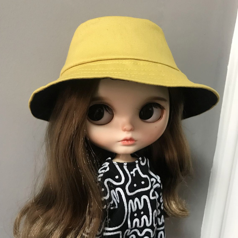 1/6 Blyth Doll Accessory Fashion Doll Hat Cute Doll Hat For Blyth Bucket Hat Winter Hat