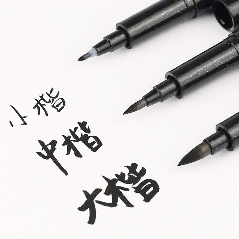 3 Pçs/lote Caligráfico caneta desenho Pintura caneta escova macia pode adicionar tinta prática escova beleza caneta fabricante de Arte Material Escolar