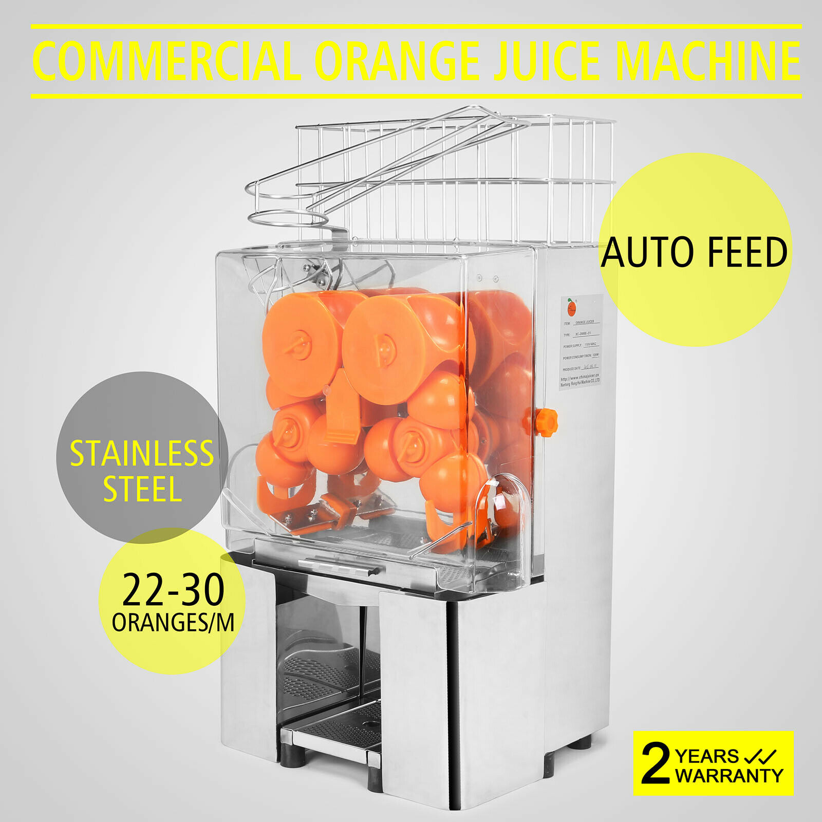 Electric-Juicer Kitchen And with 20-To-30 Orange Soda Per Minute for Restaurant 120W