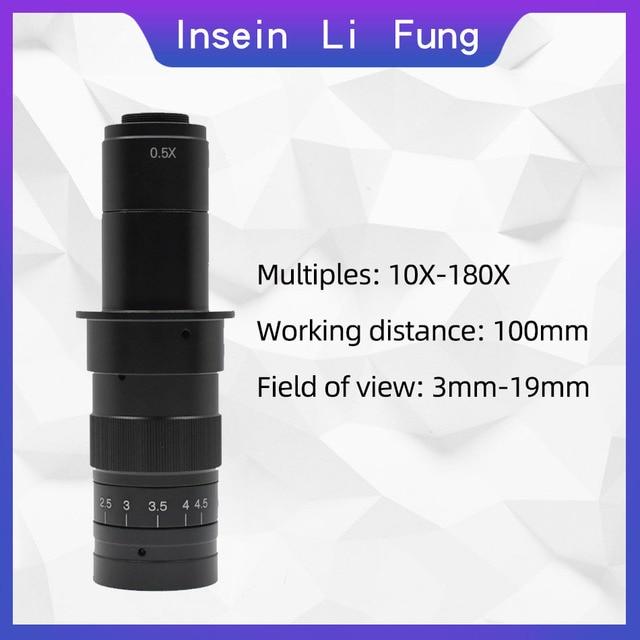 38MP 1080P 2K 60FPS mikroskopowa kamera 180X 300X elektronicznych wideo HDMI USB lupa lupa TF pudełko na karty lupa naprawa spawalnicza