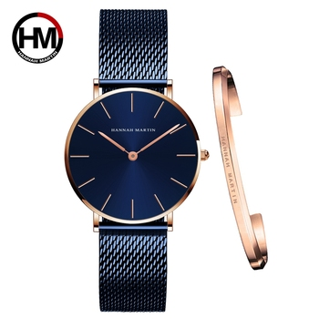 Dropshipping white Dial Watch Japan Quartz Simple Design Waterproof Rose Gold Stainless Steel Mesh Band Lady Watches for Women - discount item  49% OFF Women's Watches