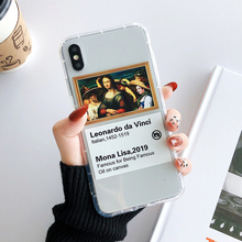 Italian Mona Lisa print for case iPhone 7 8 plus 6s 6 cover iphone xr xs max x oil painting soft phone case for iPhone 7 8plus 8 цены