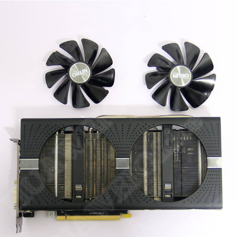 SAPPHIRE AMD Radeon Video Card Cooling Fan NEW NITRO+/PULSE RX470 RX570 RX480 <font><b>RX580</b></font> RX590 4G/8G Graphics Card Cooler Fans image