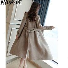 AYUNSUE зимняя куртка для женщин двустороннее шерстяное пальто Женская куртка шерстяные пальто и куртки Женская длинная куртка Casaco Feminino MY