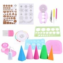 EASY 19Pcs DIY Papier Quilling Handgemachte Werkzeuge Set Vorlage Pinzette Pins Geschlitzte Tool Kit Papier Karte Handwerk Dekorieren Werkzeuge