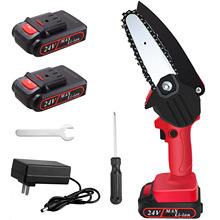 ANENG Mini Electric Chainsaw 4inch 21V Portable Handheld Cordless Pruning Shears Chainsaw for Tree Branch Wood Cutting Tools