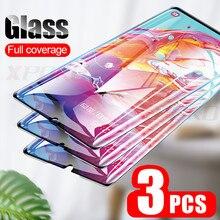 3Pcs Tempered Glass For Samsung Galaxy A20 A30 A40 A70 A50 A20E Screen Protector For Samsung J4 J6 Plus A7 A9 2018 Glass Film