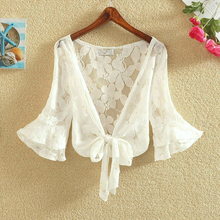 Women Sun Protection Shawl Casual Loose Clothing Summer Cardigan Blouse Shirt Lace Tops For Woman Sexy Covers Blusas