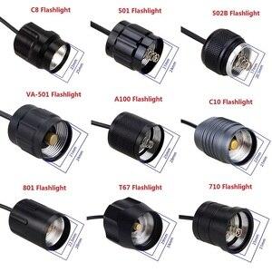 Image 1 - Contrôleur de pression, 9 modèles, pour lampe torche, interrupteur queue de Rat, pour C8/501/502B/VA 501/A100/C10/801/T67/710