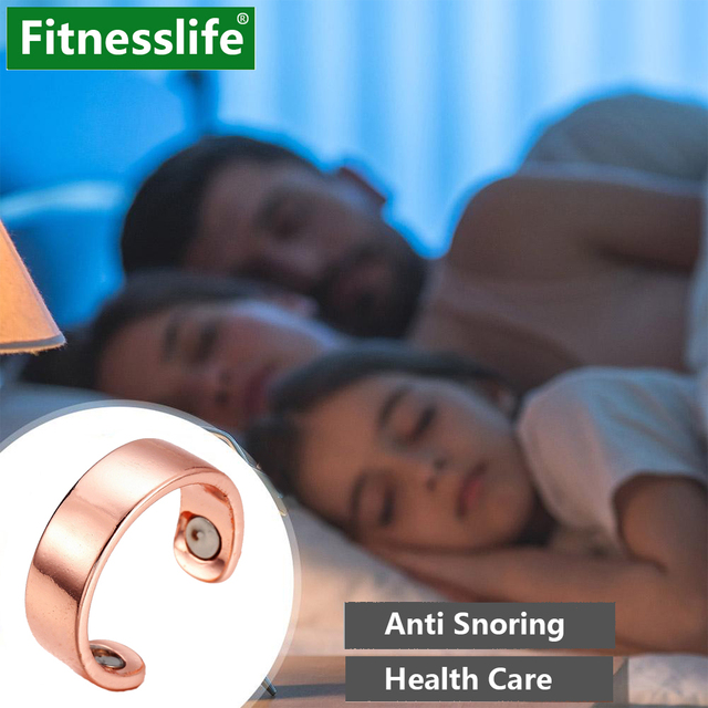 Snoring Device Anti Snoring Ring Magnetic Therapy Acupressure Treatment Against Finger Ring Health Care Sleep Aid for Snoring 1