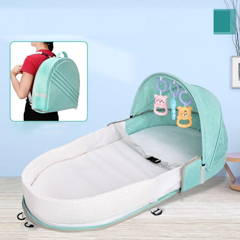 Nouveau-né lit bébé pliable lit Portable en plein air voyage coton panier de couchage momie sac bébé nid berceau livraison directe
