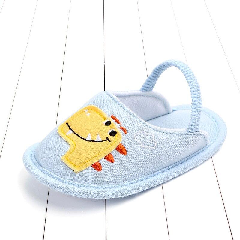 Модная хлопковая детская обувь; Летние Нескользящие тапочки для младенцев; Милая обувь; мягкая обувь для новорожденных девочек; домашняя