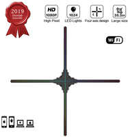 Pantalla publicitaria original dseelab wifi app cloud 100cm holograma 3d led ventilador de alta calidad de imagen a buen precio