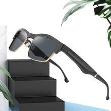 Ultra-light Smart Bluetooth Sunglasses Black Technology Multi-function Call Semi-open Sound Effect Casual Polarized Glasses