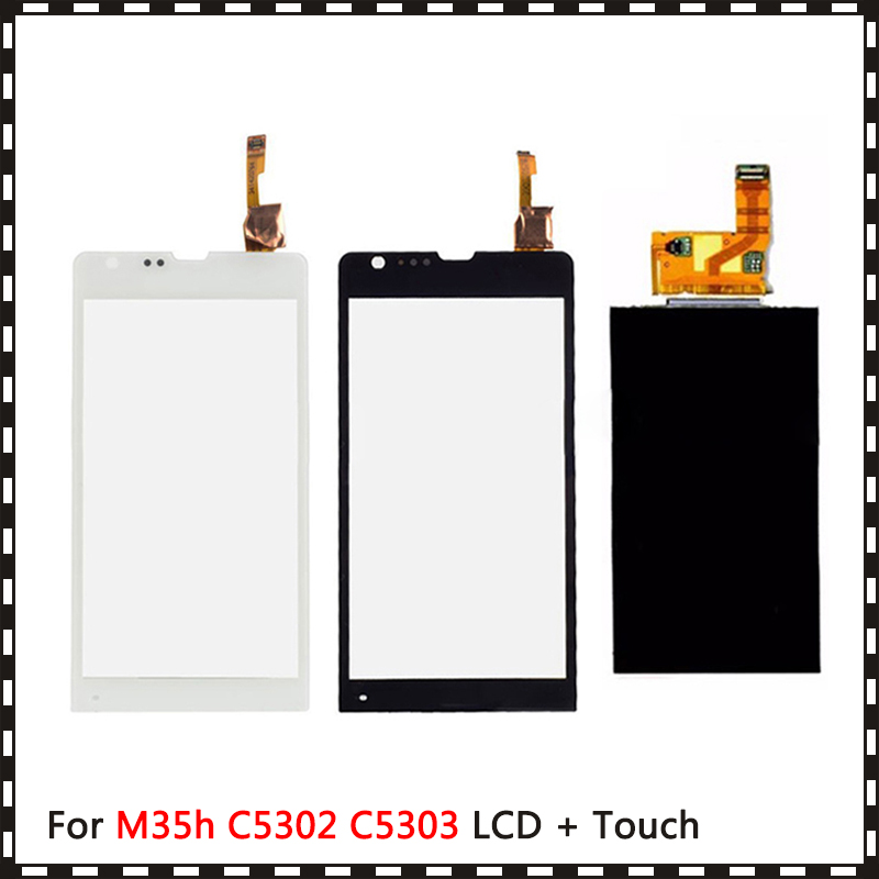 New High Quality 4.6'' For Sony Xperia SP M35h M35 M35i C5302 <font><b>C5303</b></font> <font><b>Lcd</b></font> Display With Touch Screen Digitizer Sensor image