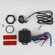 DC 12V автомобильный бесключевая легкая замена установки двигателя старт светодиод включения/выключения свет запасные части авто нажимная кнопка управления переключатель