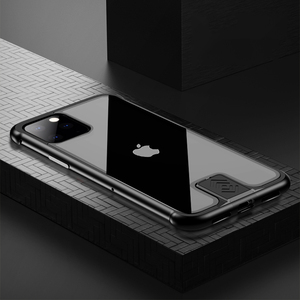 Image 2 - Armor Metal Bumper Case For iPhone 11 Pro Max Case Pull Plus Tempered Glass Highly Shockproof Cover For iPhone 11 Pro Coque Case