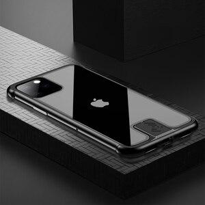 Image 2 - Custodia paraurti in metallo per armatura per iPhone 11 Pro Max custodia Pull Plus in vetro temperato Cover altamente antiurto per iPhone 11 Pro custodia Coque