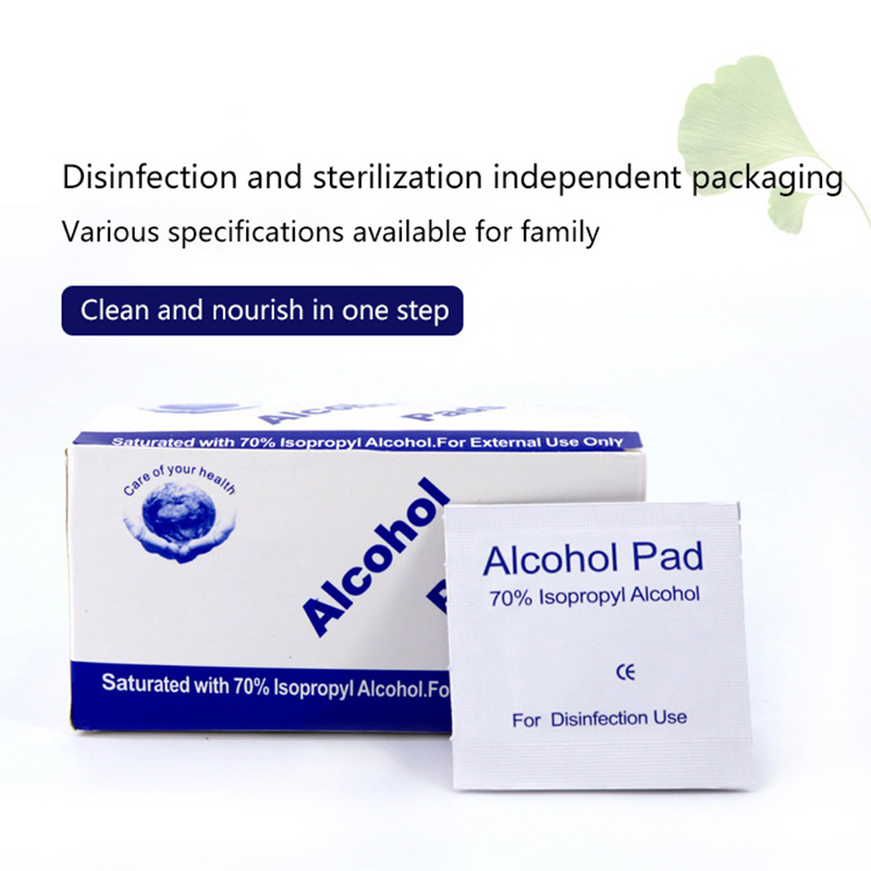 100 PSC AlcoholWipes Disposable Disinfection Preparation Mat Antiseptic Skin Cleaning Care Jewelry Mobile Phone Alcohol Wipes