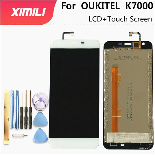 5.0 inch For <font><b>OUKITEL</b></font> <font><b>K7000</b></font> LCD Display+Touch Screen Digitizer Assembly 100% Original New LCD+Touch Digitizer for <font><b>k7000</b></font>+Tools image