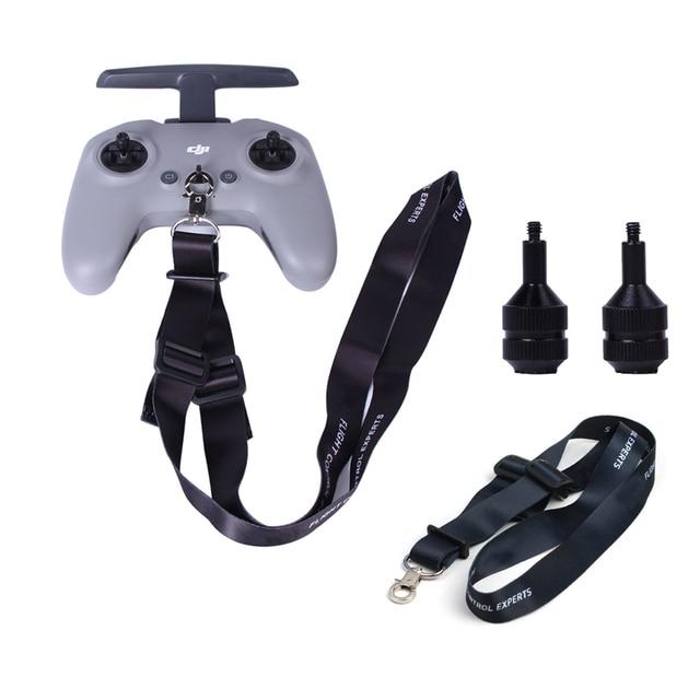 Joystick in lega di alluminio FPV Drone telecomando pollice bilancieri cordino da collo cordino per accessori DJI FPV