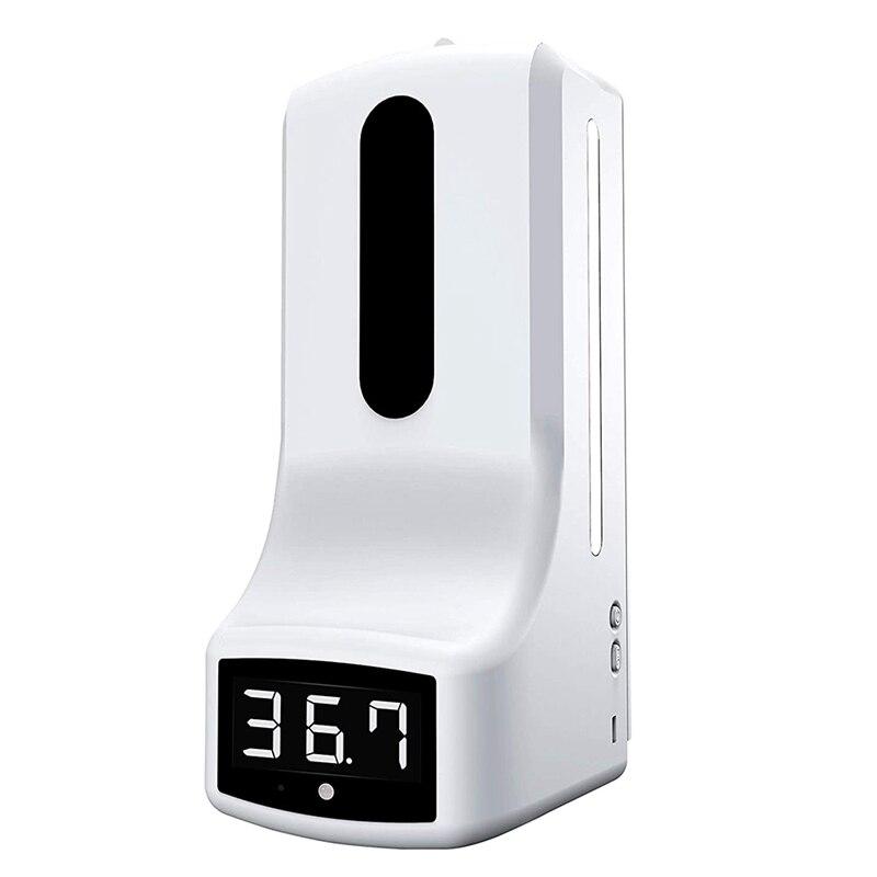 2 в 1 Инфракрасный термометр K9 автоматический дозатор мыла для измерения температуры ладони и дезинфекции Интегрированная машина
