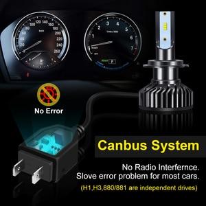 Image 5 - Ampoules pour phares de voiture, LED, 2 pièces ZES puces LED H4 Canbus H1 H3 H7 H8 H11 HB3 9005 HB4 9006 H27 880 881, lampe frontale automatique 12V 5000K