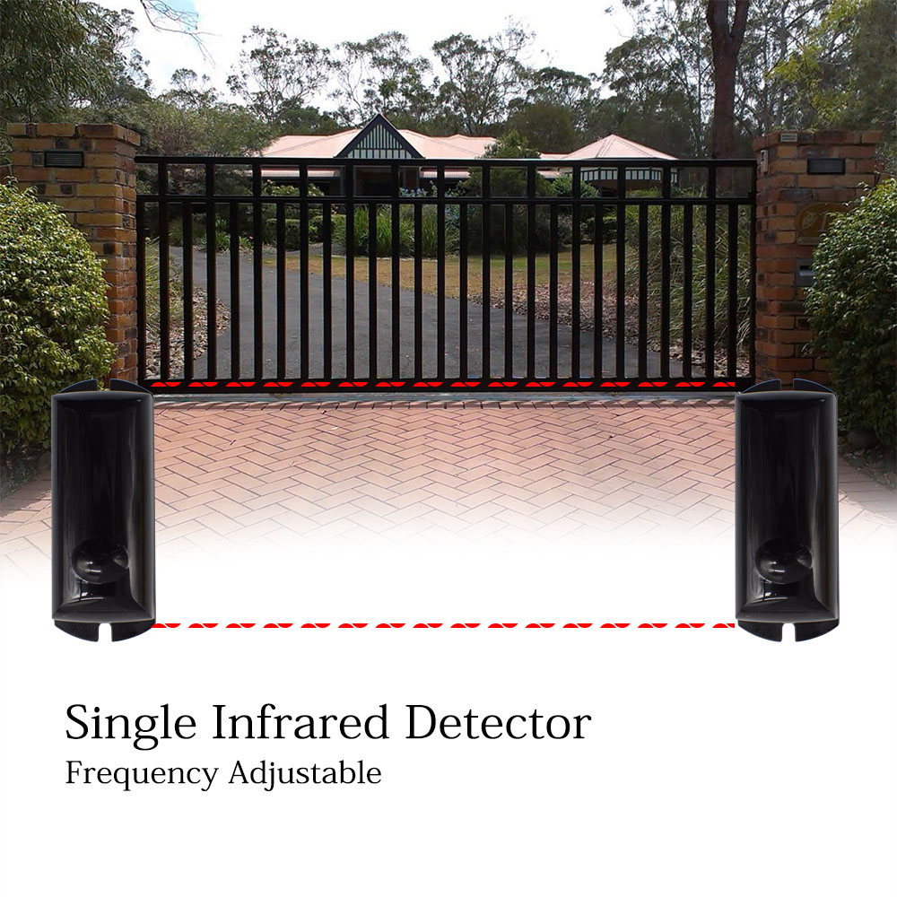 Fotozelle einzigen strahl Aktive Infrarot Strahl sensor detektor IR alarm 15m frequenz einstellbar für automatische barriere