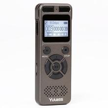 Yulass 8GB profesyonel ses kaydedici iş taşınabilir dijital ses kaydedici USB desteği çoklu dil, tf kartı 64GB