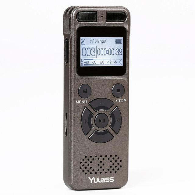 Yulass 8GBเครื่องบันทึกเสียงระดับมืออาชีพแบบพกพาเครื่องบันทึกเสียงดิจิตอลUSBสนับสนุนหลายภาษา,tf Card 64GB