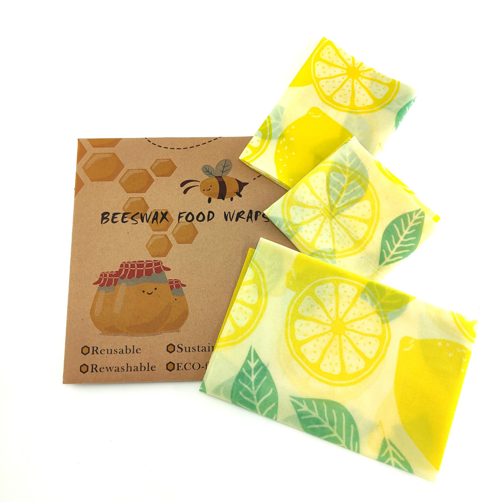 Beeswax Food Wrap Reusable Eco Friendly Food Wrap Organic Natural Plastic Free Sustainable Fruit Storage Pouch Organic Wrap