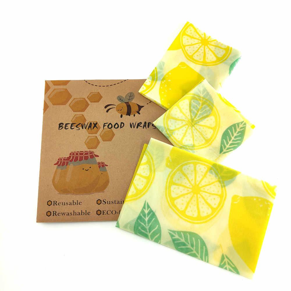 Cera d'api Avvolgere Gli Alimenti Riutilizzabile Eco Friendly Food Wrap Organico Naturale di Plastica Trasporto Sostenibile di Stoccaggio Di Frutta Sacchetto di trasporto involucro biologico