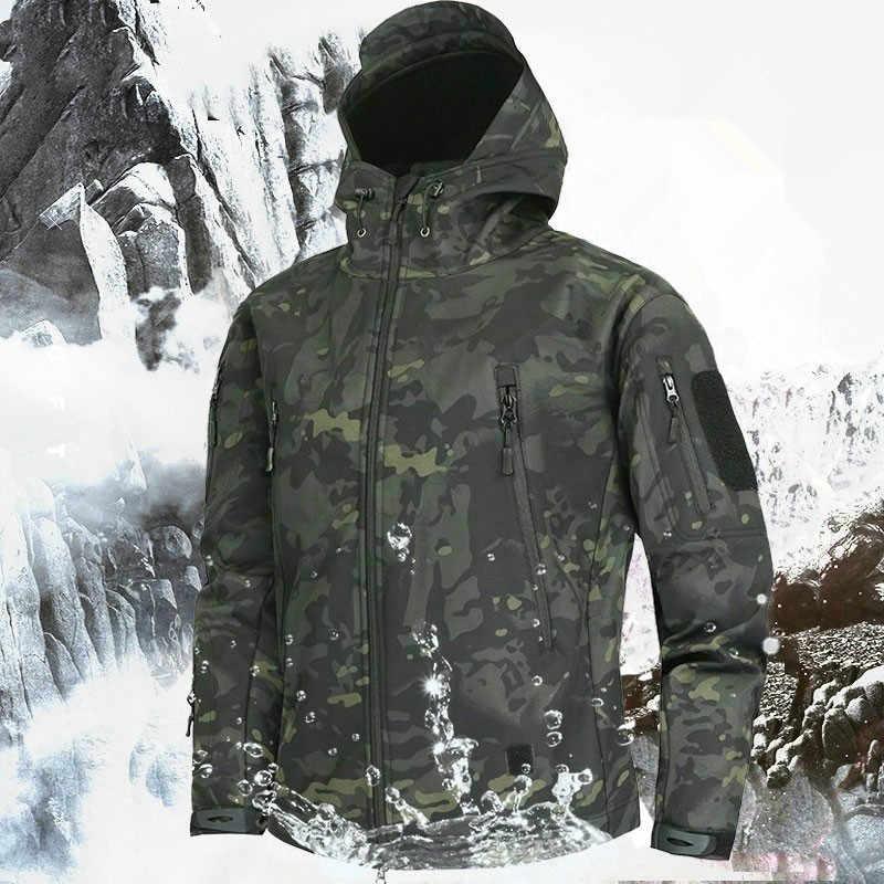 Мужская камуфляжная флисовая куртка, тактическая куртка с мягкой оболочкой в стиле милитари, камуфляжная ветровка, 5XL