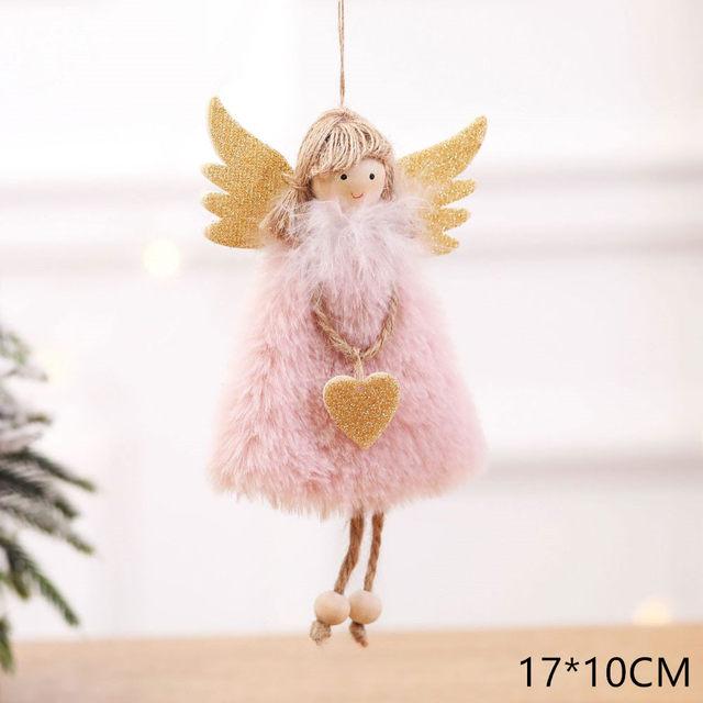 New Year 2020 Cute Santa Claus/Snowman/Angel Christmas Dolls Noel Christmas Tree Decoration for Home Xmas Navidad 2019 Kids Gift 173