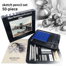 New 50pcs Sketching Pencils Set Professional Drawing Wood Pencil Kit for School Students Painting Tool Art Supplies Painter Gift 32pcs professional drawing artist kit pencils sketch charcoal art craft with carrying bag tools